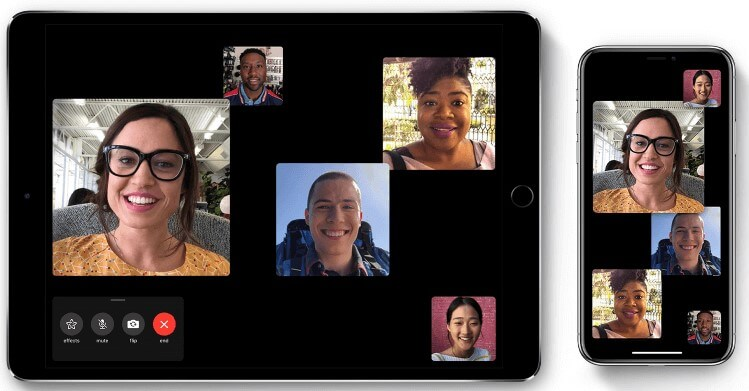 Group FaceTime feature on iPhone iPad and iPod touch