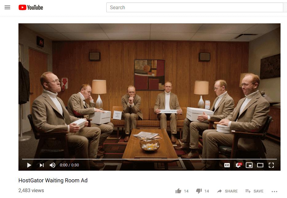 HostGator YouTube Ad