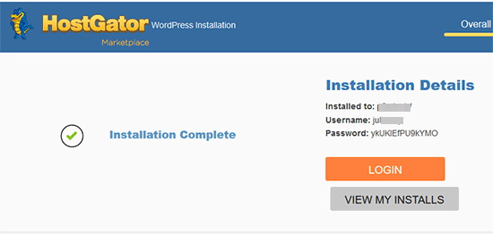 hostgator-wordpress-installation