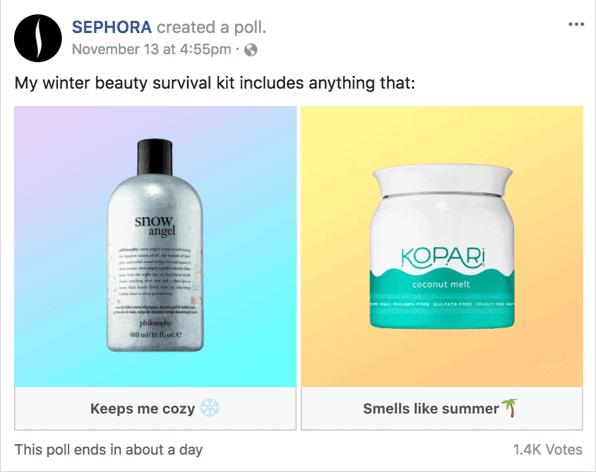 sephora-facebook-poll